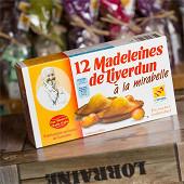 Clair de Lorraine 12 madeleines de Liverdun aux mirabelles boîte de 250g