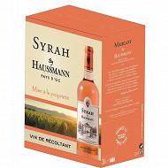 By haussmann Pays d'Oc Syrah BIB 3L 12.5%vol