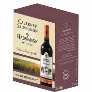 By Haussmann vin pays d'oc cabernet sauvignon rouge bib 3L 13%vol