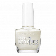 Gemey maybelline vernis à ongles Tenue&Strong N°77 blanc nacre NU