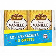 Vahiné lot 15 sachets sucre vanille + 5 offerts 174g