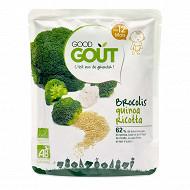 Good gout brocolis quinoa ricotta 220g 12 mois