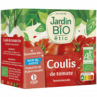 Jardin Bio Etic coulis de tomate bio brique tetra de 500g