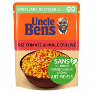 Uncle Ben's riz micro-ondable  tomate olive 2mn 250g
