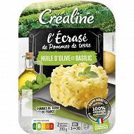 Créaline écrasé de pommes de terre à l'huile d'olive 2x195g