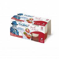 Baïko yaourt brassé sur lit de fraises 2x150g