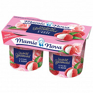 Mamie Nova yaourt gourmand litchi rose 2x150g