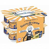 Mamie Nova fromage blanc au lait entier au sucre de canne  roux 6.8% mg 8 x 100g
