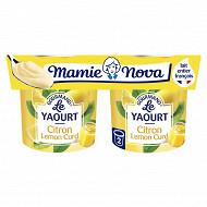 Mamie nova yaourt gourmand citron lemon curd 2x150g