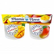 Mamie Nova yaourt double plaisir mangue 2x140g