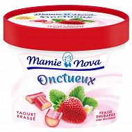 Mamie Nova gourmand onctueux fraise rhubarbe 450g