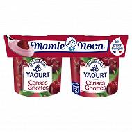Mamie Nova gourmand yaourt cerise griottes 2 x 150 g