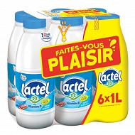 """Lactel lait demi écrémé 6x1 litre """"Faites vous plaisir avec Lactel"""""""