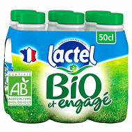 Lactel bio écrémé bouteille 6x50cl