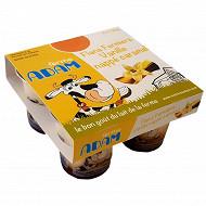 Ferme Adam flans vanille nappé caramel 4x125g