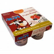 Ferme Adam yaourts aux fruits rouges 4x125g