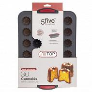 Moule 24 cannelés en silicone bords rigides
