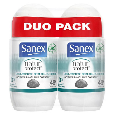 Sanex Sanex deodorant natural protect extra efficency roll-on 2x50ml