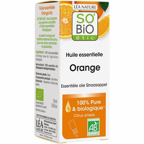 So bio huile essentielle bio 100% orange bio 15ml