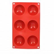 Moule 6 demi sphères 27.7x16.6x2.5cm