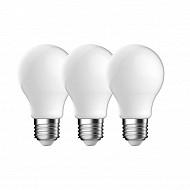 Gétic ampoules LED filament milky équivalent 60W E 27 2700k lot de 3