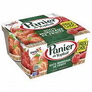Panier de Yoplait standard fraise framboise 4x130g prix choc