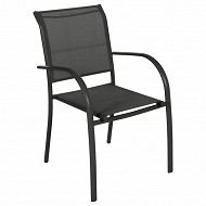 Fauteuil piazza anthracite