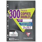 Clairefontaine copies doubles perforées 21x29.7 200 pages + 100 offertes seyes