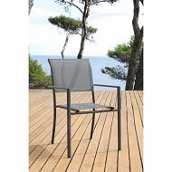 Terria fauteuil empilable mangue éco coloris gris