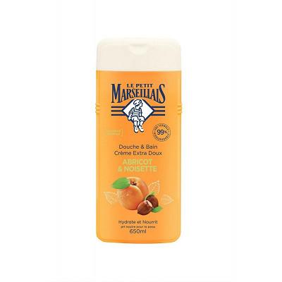 Le Petit Marseillais Le petit marseillais douche & bain extra doux abricot noisette 650ml