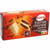 Cora goûters fourrés cacao pocket 300g