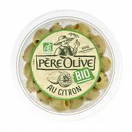 Père Olive olives bio au citron 150g