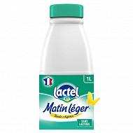 Lactel matin léger écrémé avec 0.5% de lactose 1 l