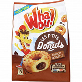 Whaou! p'tits donuts coeur chocolat&noisette x6 180g