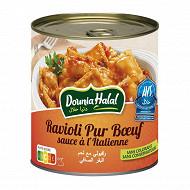 Dounia halal ravioli pur boeuf sauce italienne 4/4 800g