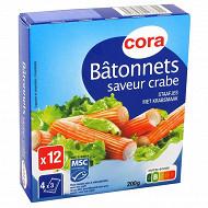 Cora bâtonnets de surimi saveur crabe 200g