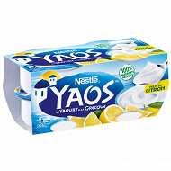 Yaos yaourt à la grecque pulpe de citron 4x125g offre découverte