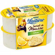 La Laitière Secret de mousse citron 4x59g