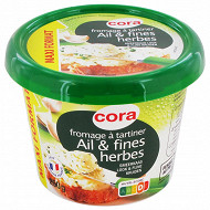 Cora fromage ail et fines herbes 250 g