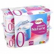 Cora yaourt nature maigre 0% 12x125 g