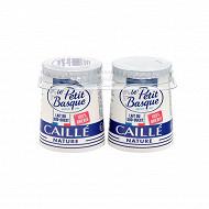 Le Petit Basque lait brebis emprésuré caillé nature 2x125g