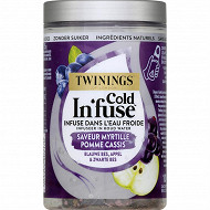 Twinings cold in fuse saveur myrtille pomme cassis x10 25g