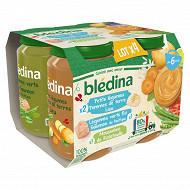 Bledina mousseline ratatouille / pdt colin / legume riz poisson 4x200g