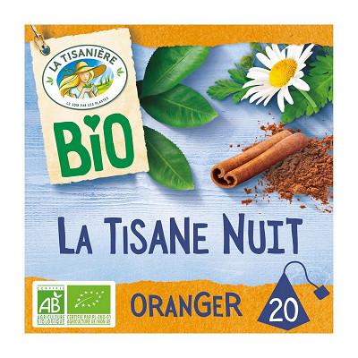 La Tisanière La tisanière la tisane bio nuit fleur d'oranger x20 30g