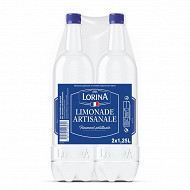 Lorina cristal limonade artisanale pet lot de 2x1.25l
