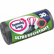 Handy bag sacs poubelle x15 poignées coulissantes ultra résistants 30 litres x1
