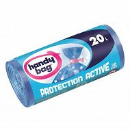 Handy bag sacs poubelles x20 protection avtive a lien 20l