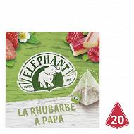 Eléphant infusion rhubarbe à papa 20 sachets 38g