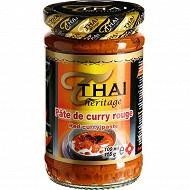 Thai héritage pâte de curry rouge 115g