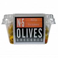 Ail ail ail n°5 olives vertes dénoyautées à la sicilienne 160g